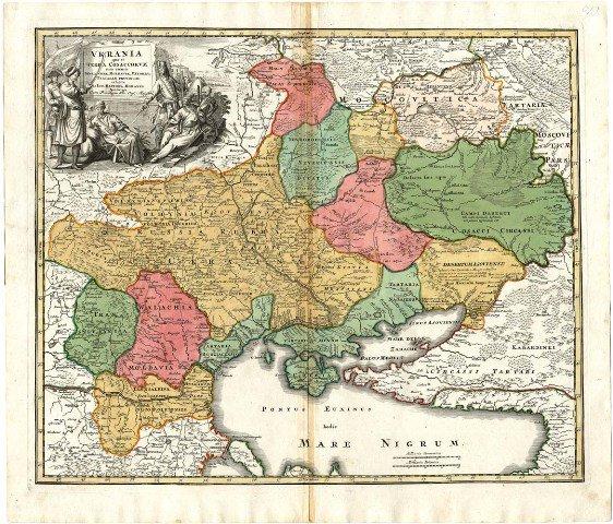 карта, Ukrania Terra Cosaccorum